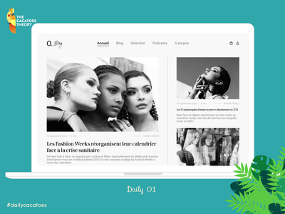 Blog #dailycacatoes desktop @thecacatoestheory cacatoesdaily challenge fashion blog dailyui ui design @ui @design