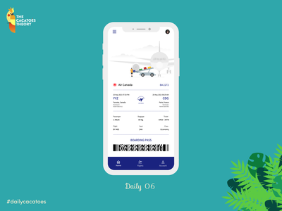 Airline ticket #dailycacatoes compagnyairline planeticket airplaneticket compagny ticket mobile dailycacatoes thecacatoestheory cleardesign ui @ui dailyui @design design