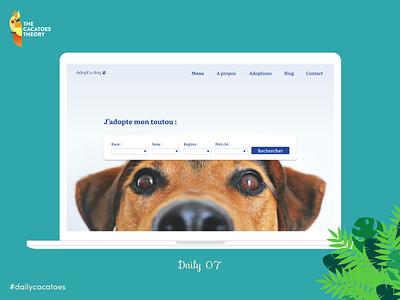 Landing page animals #dailycacatoes thecacatoestheory dailycacatoes searchbar @ui @design dailyui dog animals desktop landingpage design ui