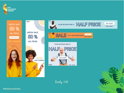 Banners for sale #dailycacatoes thecacatoestheory summer sales banners pattern shapes ui @ui design @design dailyui dailycacatoes