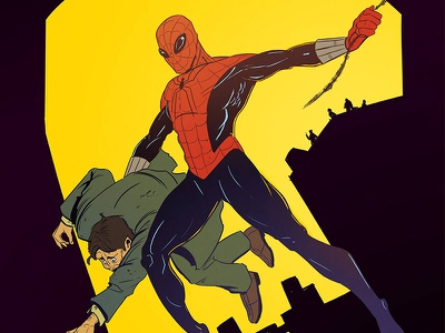 Amazing Fantasy Cover Re-Imagined marvel superhero cover comic fantasy amazing spiderman spider-man