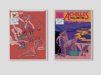 Achilles & Orestes Comic Covers