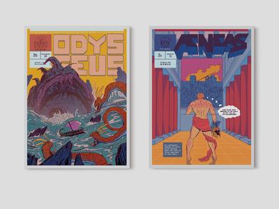 Aeneas & Odysseus Comic Covers