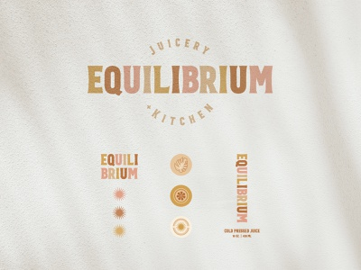 Equilibrium Juicery + Kitchen starburst leaf logo type boho illustraion cafe logo cafe restaurant branding juice juice bar