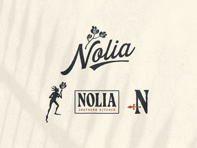Nolia iron magnolia illustration type creole voodoo new orleans restaurant branding restaurant logo restaurant