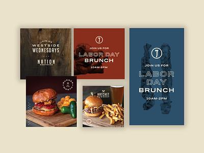 Nation Kitchen & Bar Social Media Templates labor day photography burger kitchen bar restaurant social social media branding design banner web