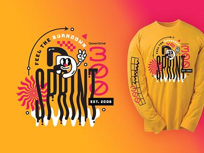 Sprint Shirts smileyface shirt tshirt sprint glitchy y2k trippy wavy techy illustration
