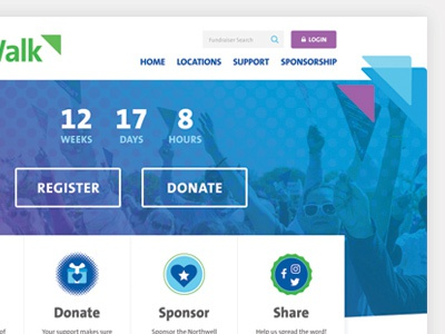 Banner Patterns buttons share donate icons nonprofit web web banner patterns