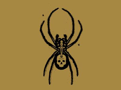 Spider insect bug sword witchcraft tarot skull spider illustration