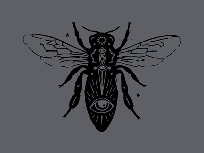 Hornet tarot witchcraft illustration bug insect hornet bee