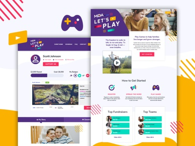 MDA Let's Play website web banner web ux ui product illustration icons app