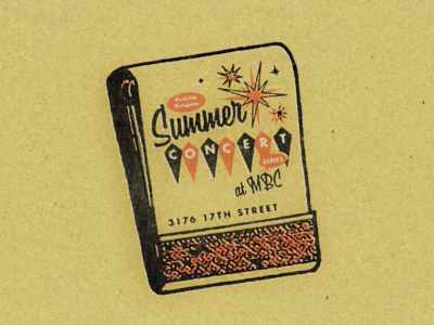Summer Concert Matchbook