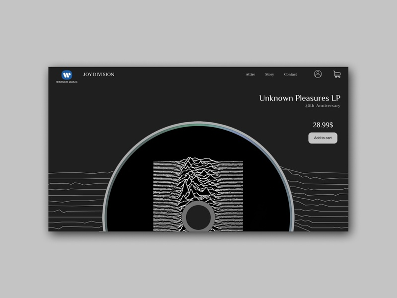 JOY DIVISION'S UNKNOWN PLEASURES - 40th Anniversary Vinyl