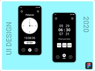 Alaram Clock alarm clock clock app branding logo typography splash screen illustration ux design ui figmotion figma