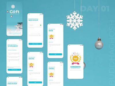Giveaway UI Design Challenge | Daily UI Challenge app design typography dailyui ui