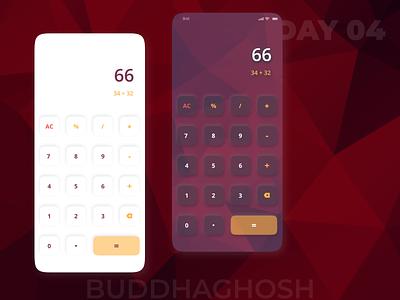 Calculator UI Design | Calc App Design | 004 app uiux design ux ui logo