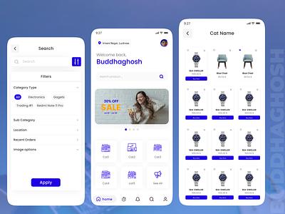 E-Commerce UI Design | App UI | E commerce App uichallenges dailyui app uiux ux ui
