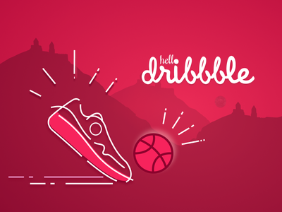 Hello dribbble! I'm so happy to be part of this superb community icon typography branding design logo ux ui illustration