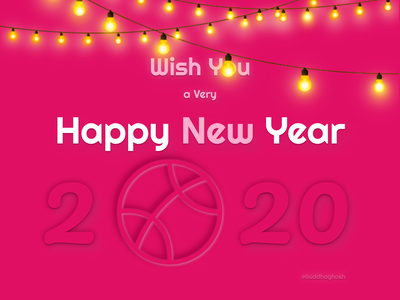 Happy New Year 2020 Dribbble 2020 happy new year branding ux ui typography logo illustration icon