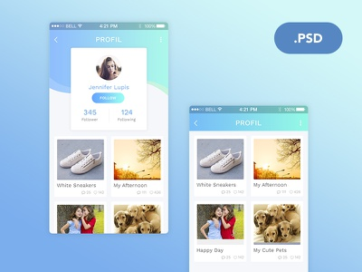 Profile Screen Exploration android ios freebies app freebie profile screen apps mobile app ui design user interface graphic design