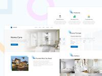 Al-Bedfill Landing Page Design