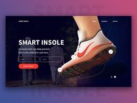 Smart Insole Web : Shoe Web Design