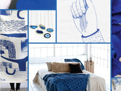 The Moody Project design inspiration collage mood-board