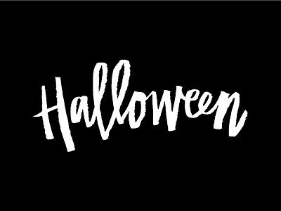 Halloween design halloween hand-letter lettering