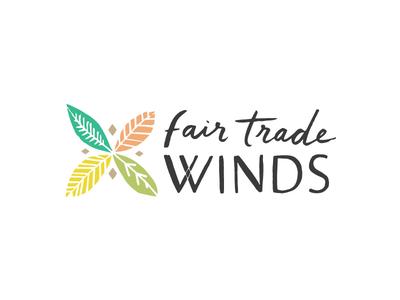 FTW logo 2 shopping ecommerce leaves fair trade illustration identity logo design