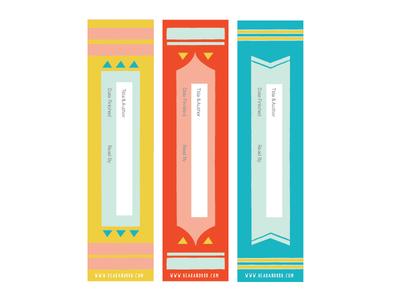 Bookmarks books kids illustration identity logo design