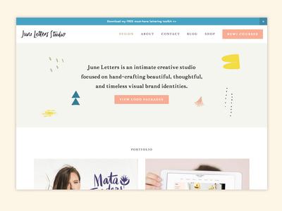 WIP Portfolio Site branding portfolio design