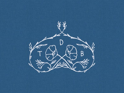 Tdb Logo Crest brand leaves poppies crest restaurant illustration identity logo design