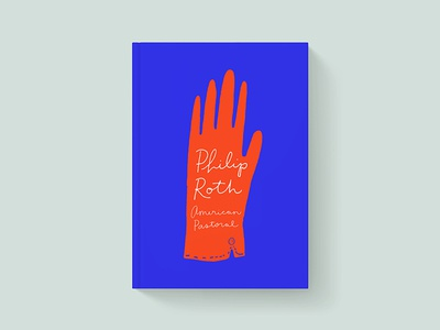 American Pastoral Book Cover 100 day project hand lettering book cover design