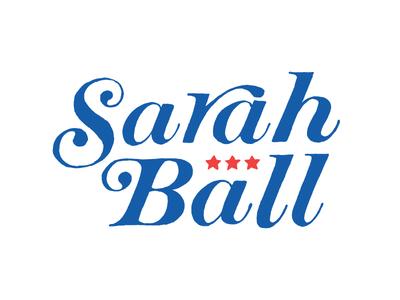 sarah retro 1970s graphic design hand-letter logo identity design