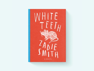 White Teeth Book Cover Project book cover lettering design