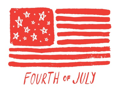 Freebie Friday! July 4th Vector free vector illustration flag america fourth of july
