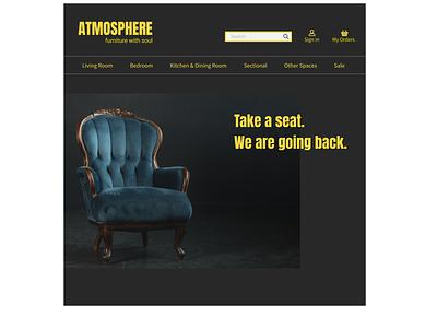 Vintage Furniture Store branding website web art typography minimal ui ux design