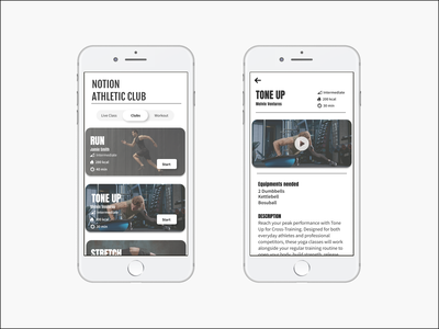 Mobile Sports App flat icon typography minimal app ux ui design