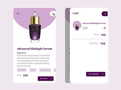 Online Cosmetic Shopping icon branding graphic design art app ux ui minimal illustration design
