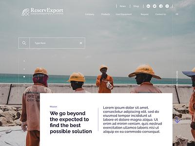 Homepage  Slider web minimal typography ux branding ui design