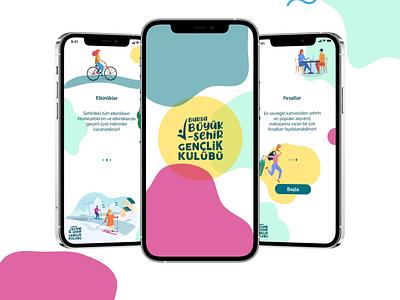 Colorful Splash vector illustration mobile ux ui design