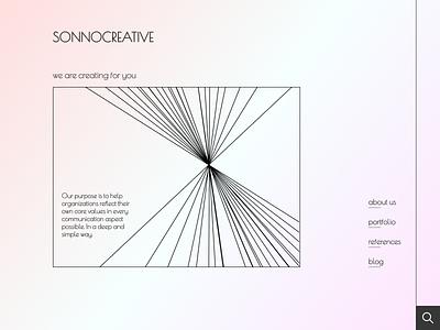 An imaginary & a big pastel color fan agency website logo art web design ui ux minimal