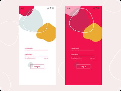 sign in/ press art icon illustration vector minimal web ux ui app design
