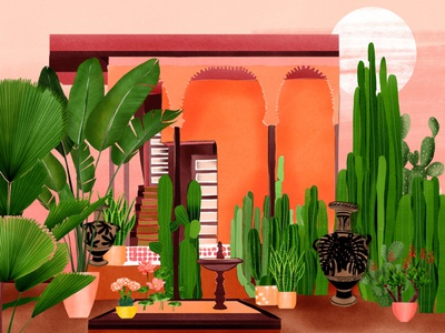 Travel Illustration - Marrakech