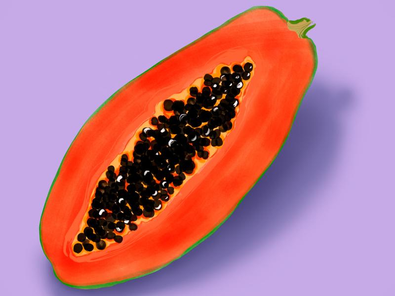 Papaya Fruit Illustration