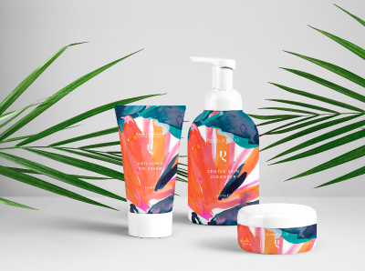 Packaging Pattern Design Cosmetics Strelitzia