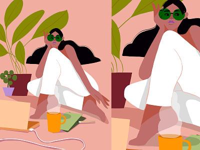 Bosslady new work magazine illustration computer vectorillustration girlboss plant illustration woman woman illustration branding illustration art illustrator freelance illustrator editorial illustration botanicalart packagingdesign illustration digital illustration