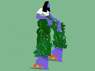Jungle Pants plants vectorillustration branding plant illustration fashion illustration illustration art illustrator freelance illustrator editorial illustration botanicalart packagingdesign illustration digital illustration