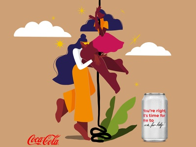 Open to better - Campaign Coca Cola commercial illustration female illustrator illustrationartist illustrationart 2d advertising branding vector illustration illustrator freelance illustrator editorial illustration packagingdesign illustration digital illustration