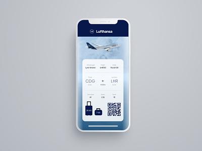 Daily UI 024 - Boarding Pass lufthansa pass boarding boardingpass dailyui24 dailyui024 uxdesign uidesign dailyuichallenge dailyui